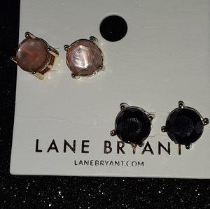 LANE BRYANT NEW 2 PAIR OF STUD EARRINGS